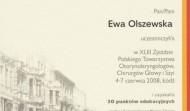 Certyfikat Ewy Olszewskiej z uczestnictwa w XLIII Zjeździe Polskiego Towarzystwa Otorynolaryngologów w 2008 roku w Łodzi