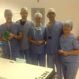 lekarze laryngolodzy po wykonanym zabiegu