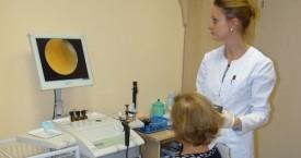 badanie endoskopowe ucha pacjentki
